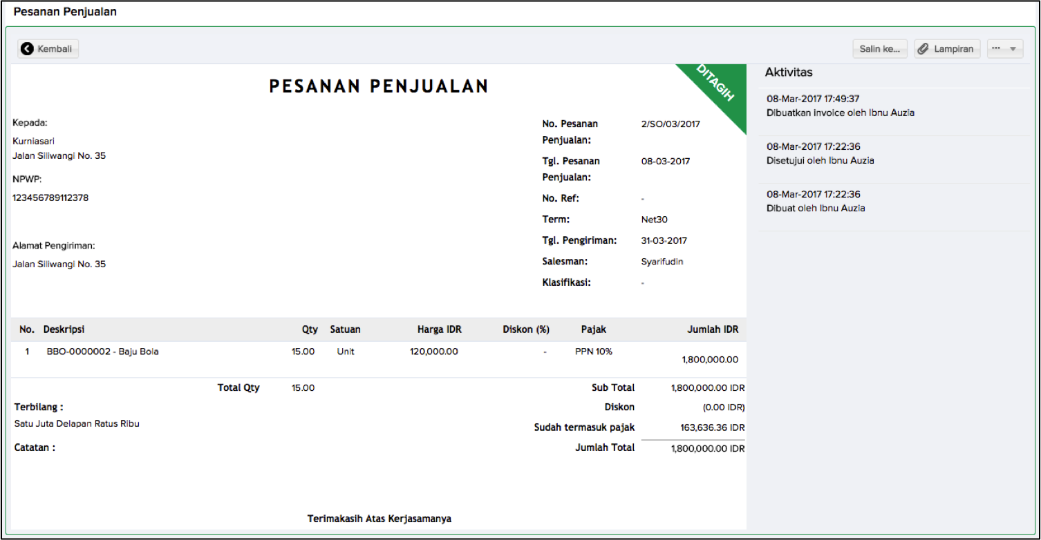sales quotes, sales order, sleekr accounting, purchase order, penawaran, akuntansi