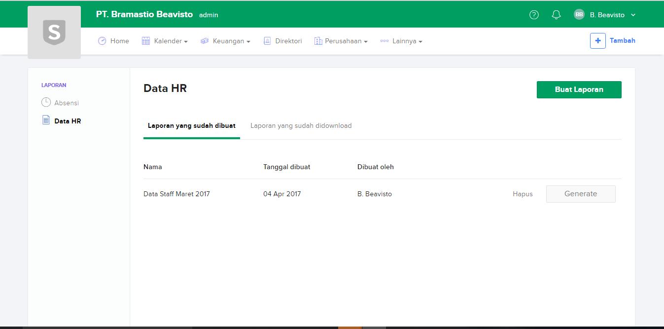 sleekr HR, fitur terbaru, laporan HR, laporan staf
