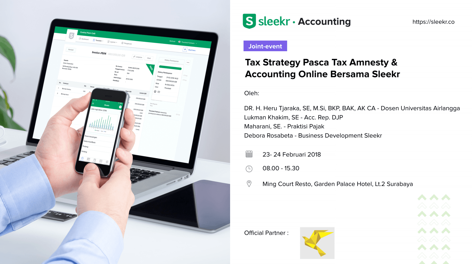 Tax Strategy Pasca Tax Amnesty & Accounting Online Bersama Sleekr