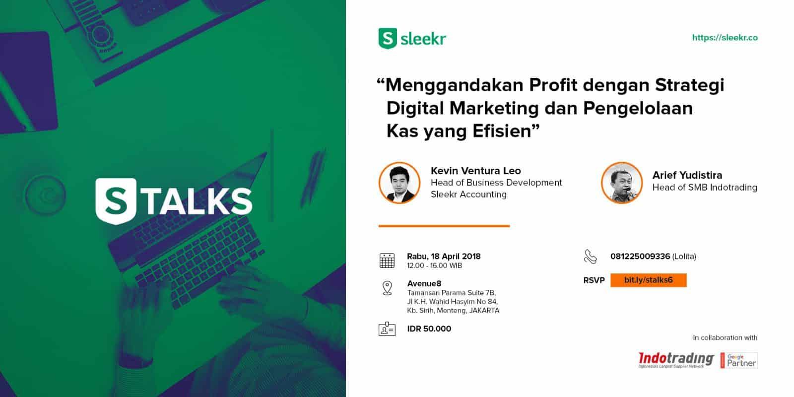 """STALKS – Business """" Menggandakan Profit dengan Strategi Digital Marketing dan Pengelolaan Kas yang Efisien"""