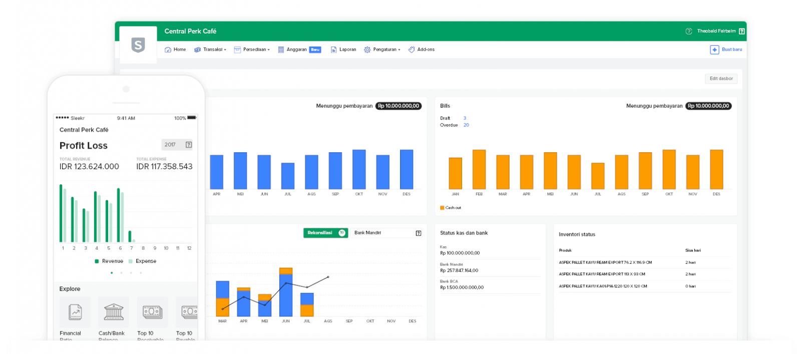 Pantau Perfoma Bisnis dengan Dashboard Keuangan Bisnis Realtime