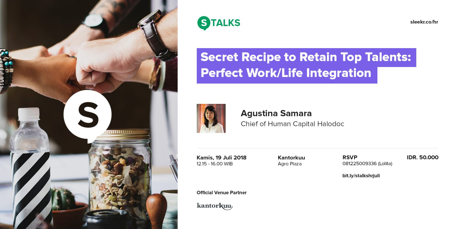 S-TALKS Secret Recipe to Retain Top Talents: Perfect Work/Life Integration